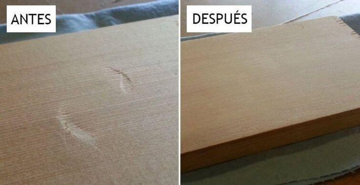 ¿Tus superficies de madera tienen abolladuras? Te damos un truco para que las elimines en solo 30 segundos. ¡Pruébalo!