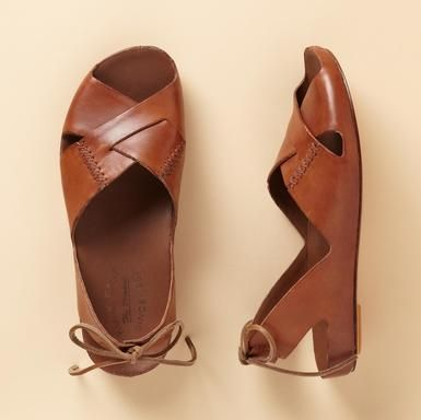 summer sandals: Shoes, Summer Sandals, Brown Leather, Slingback Sandals Kork Ea, Styles, Lace Up Heels, Rebecca Slingback, Leather Sandals, Summer Fun