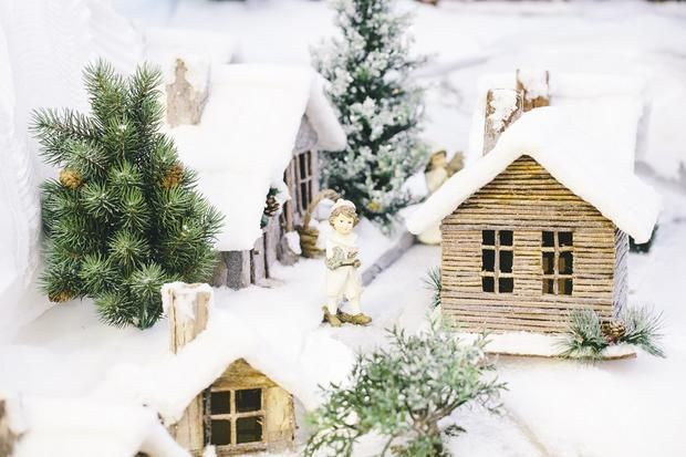 How to make cardboard houses for Christmas.  These may be cool to add to the ones I made last year