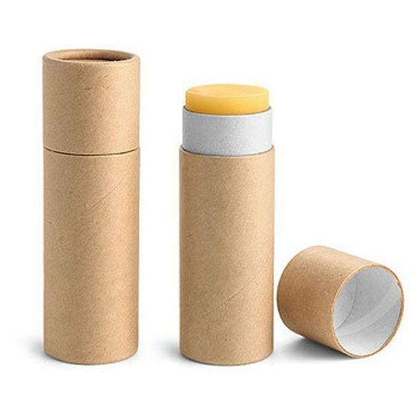 mini eco packaging kraft paper empty lip balm tube $0.35~$1