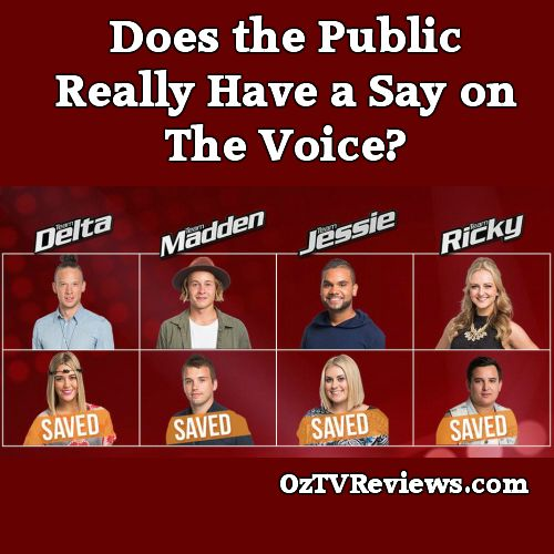 Does the Public Really Have a Say on The Voice?   #TheVoiceAu #VoiceLives  Check out our review of The Voice Live Show No.3 at  http://oztvreviews.com/2015/08/the-voice-live-show-no-3/ Be warned! There was no much we liked.