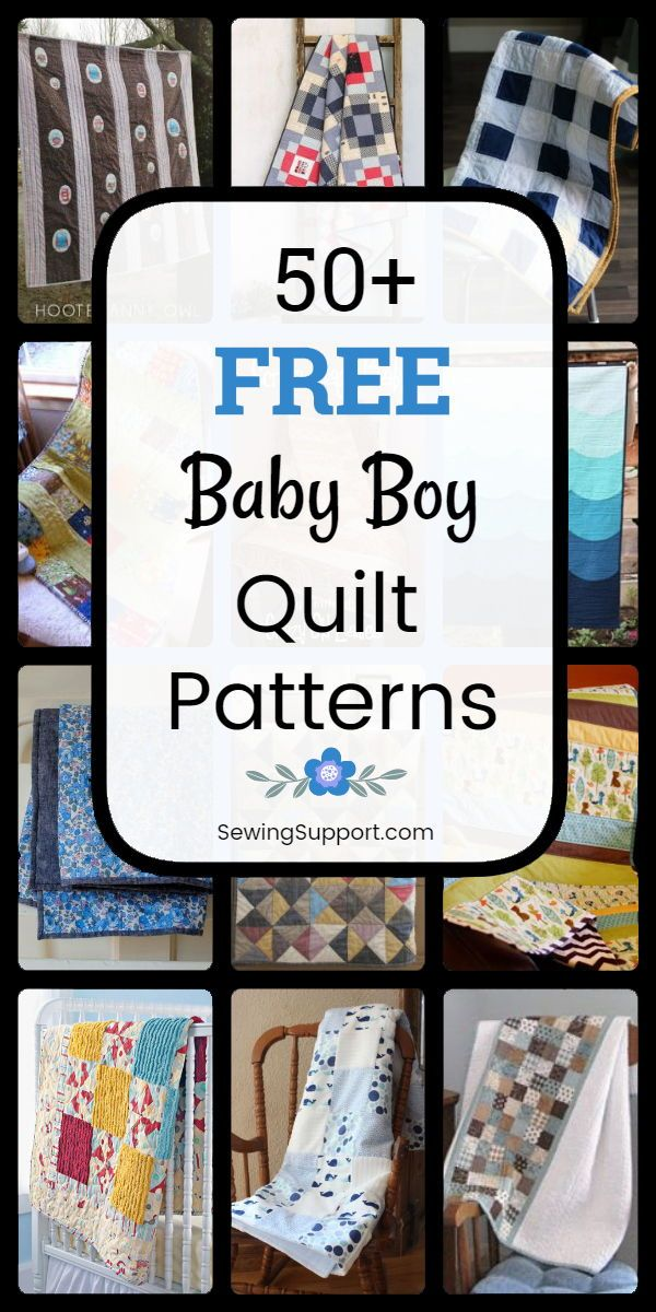 Free Quilt Patterns For Baby Boy Quilts 50 Free Baby Boy Quilt Patterns Tutorials And Diy Sewing Pro Baby Boy Quilt Patterns Boys Quilt Patterns Boy Quilts