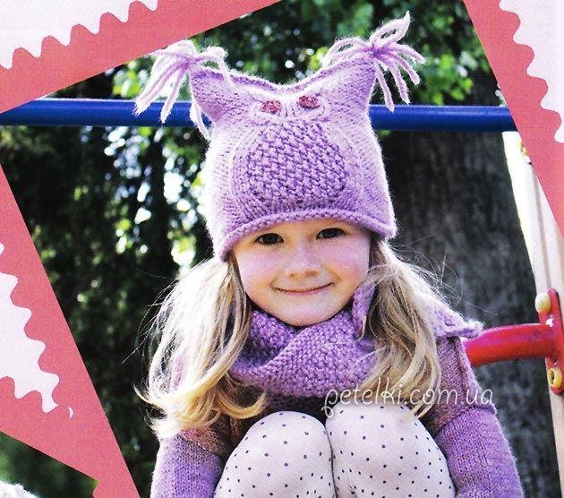 Видео вяжем спицами маленькой девочке на осень зима