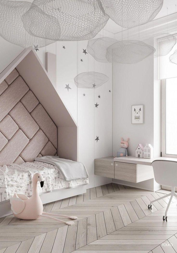 La moderna camera per bambini disegna la tua casa.