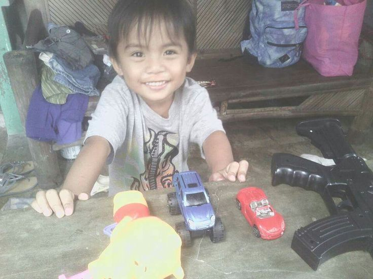 3 year old Von with his toys