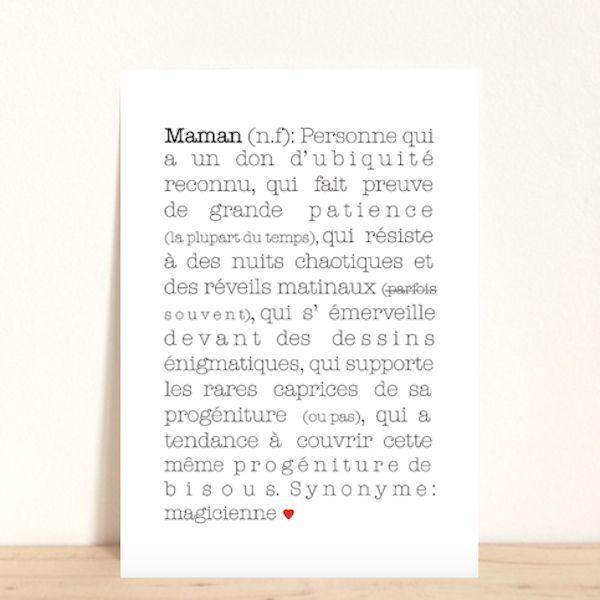 Carte postale Maman, 2.20€ -http://www.babayaga-magazine.com/e-shop-babayaga/carte-postale-maman/ #enfants #deco #papa #carte