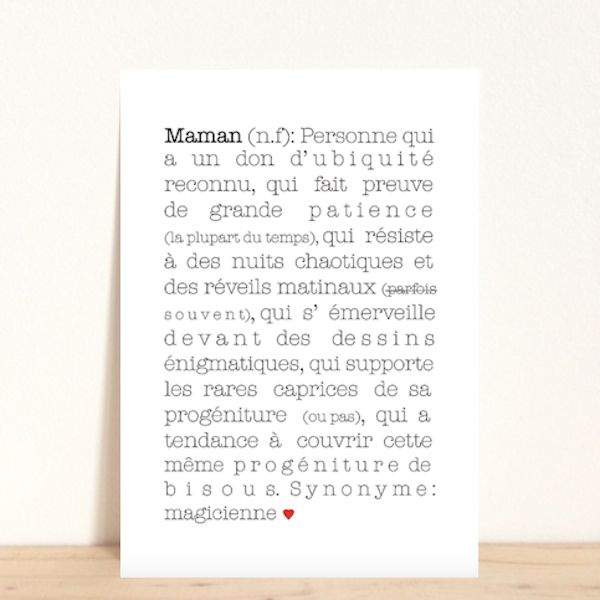 maman, carte, carte postale, déco, décoration, maison, babayaga, magazine, webzine