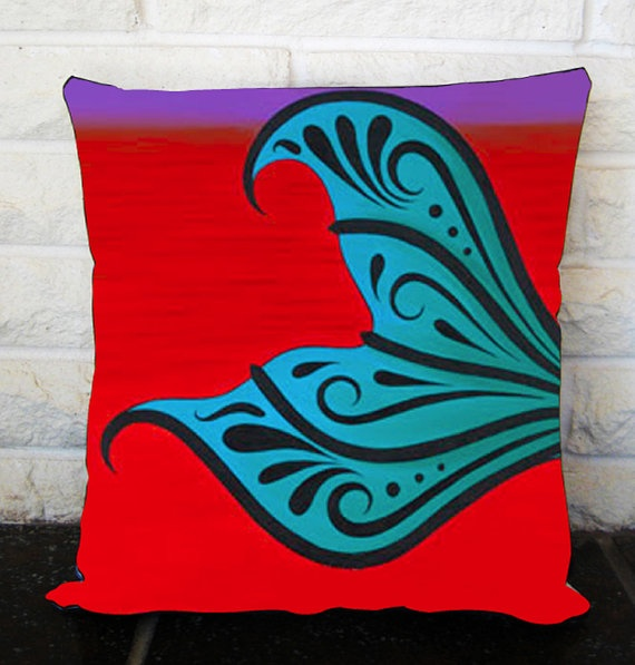 Mermaid Tail, pillow cover