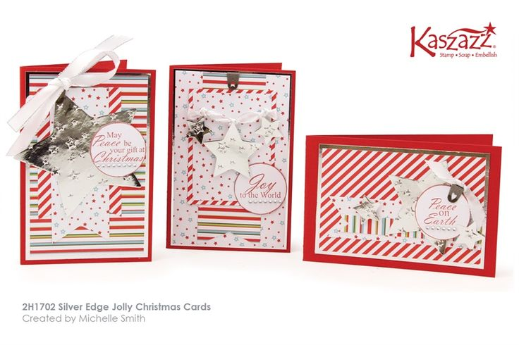 2H1702 Silver Edge Jolly Christmas Cards