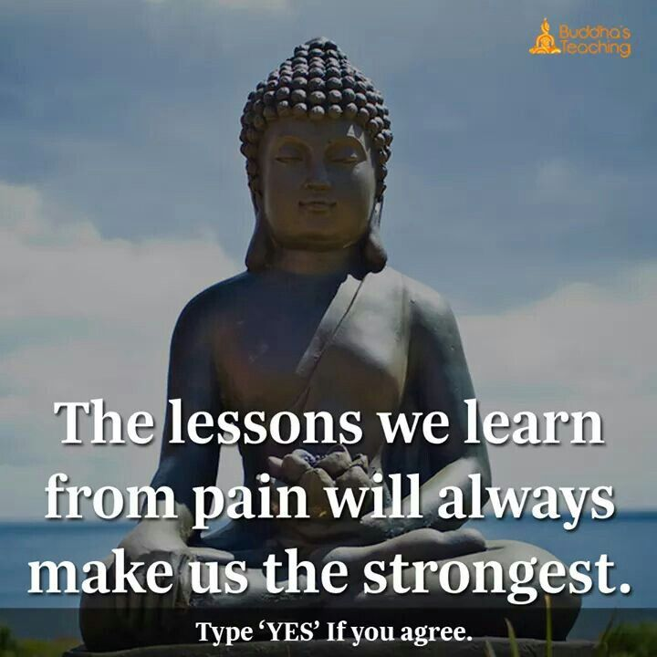The lessons we learn from pain will always makes us strongest.