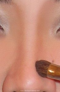 nose contouring. makes a bigger difference than I thought!: