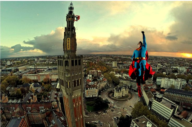 Superman et Spiderman sont de sortie à Lille-réalisation Clément Vynckier-photographe Lillois