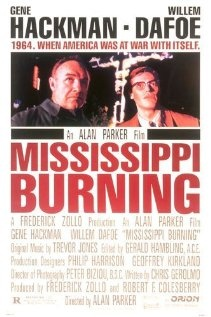 Two FBI agents with wildly different styles arrive in Mississippi to investigate the disappearance of some civil rights activists.  Director: Alan Parker Writer:  Chris Gerolmo Stars Gene Hackman, Willem Dafoe and Frances McDormand