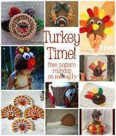 When you're crafting for the holidays, don't overlook Thanksgiving! These 10 crochet turkey patterns are fun, festive and free!