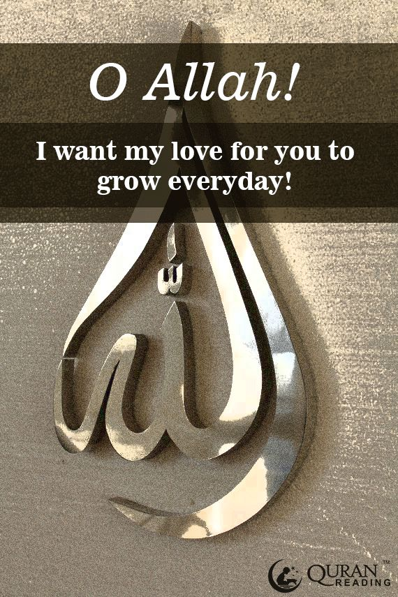 O Allah! Fill my heart with your love! <3