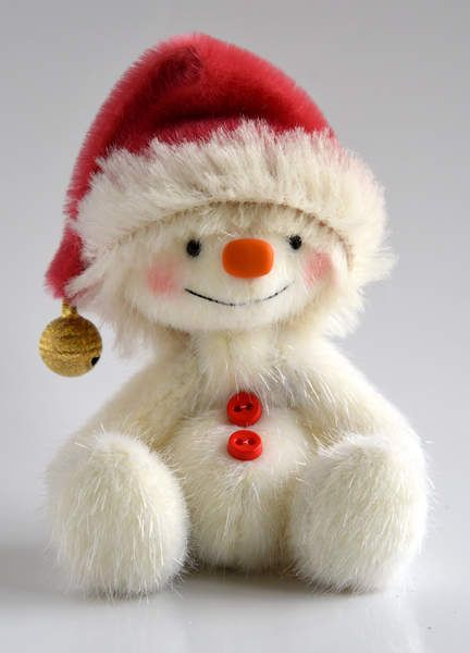 This sweet snowman is called Nippy and is is looking for a loving home......nearly Christmas ....lovely present for a loved one .....or lovely for the home ..... The snowman is made out of a long pile the colour is white with twinkles in his fur will keep him warm ,Nippy wears a Santa Hat made by me by me ...a cute snowman just fun to make .....and thought hey looks great in a hat with bell ...and a lovely collar. Its a bit different Snowman Frosty but just as much fun ......and so cute…