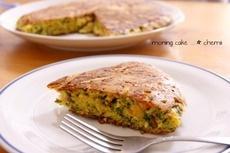 「フライパンでケークサレ風ホットケーキ」レシピ|みんなの朝ごはん・朝食レシピ:朝時間.jp