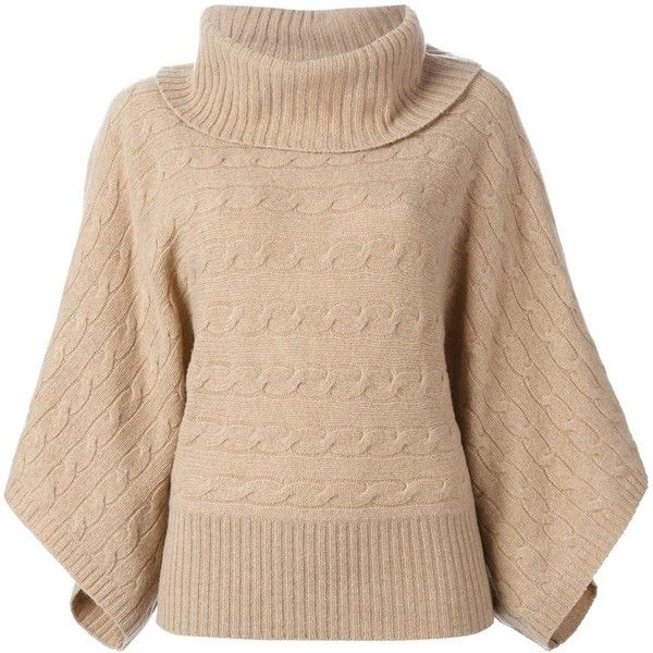 Polo Ralph Lauren Roll Neck Sweater ($191) ❤ liked on Polyvore featuring tops, sweaters, shirts, beige sweater, beige shirt, polo ralph lauren, beige top i polo ralph lauren shirts