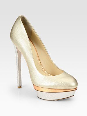 I don't think that I've every lusted after a metallic shoe - that's all changed.