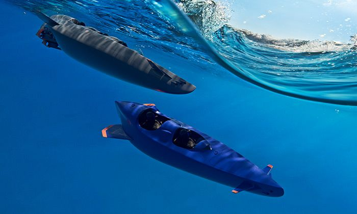 Ortega navrhla osobní dvou a třímístnou ponorku