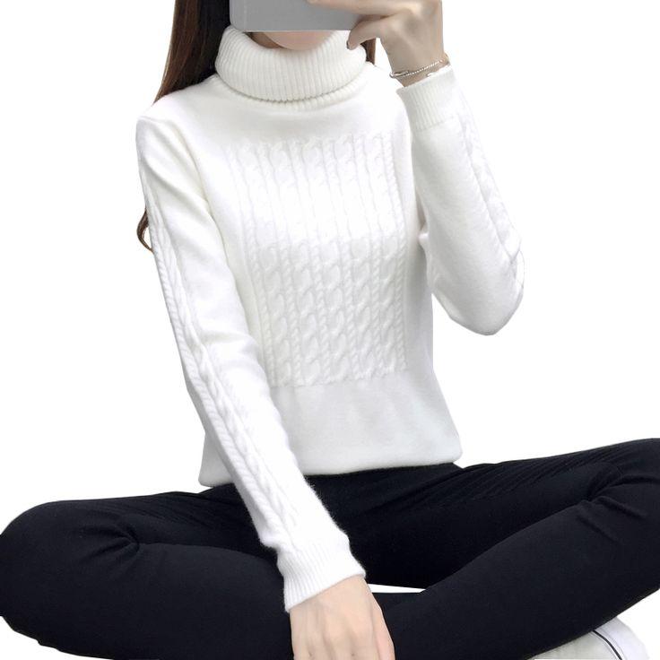 Aliexpress.com: Comprar Otoño blanco de cuello alto suéter de las mujeres suéter de cachemira de manga larga espesar Vintage Geométrico jerseys Ladies femme tirón sweter de sweaters ladies fiable proveedores en Red Rose
