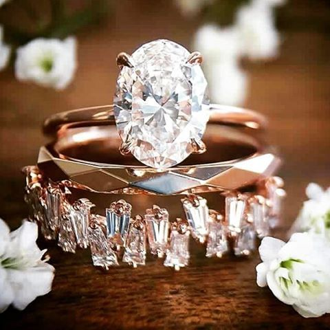 24 likes 1 comments mariage a tout prix mariageatoutprixmag on instagram stacked engagement ringstacked wedding - Wedding Ring Photos