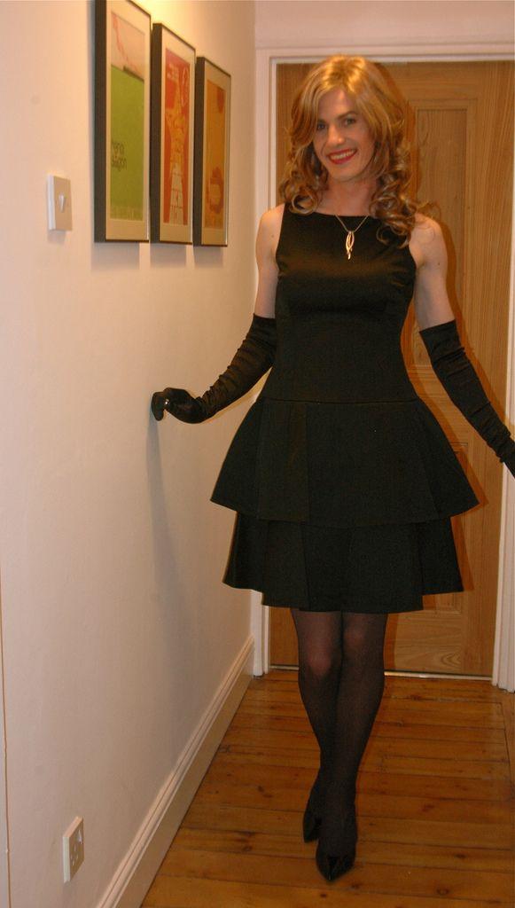 Transvestite evening dress come