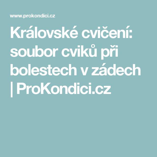 Královské cvičení: soubor cviků při bolestech v zádech | ProKondici.cz