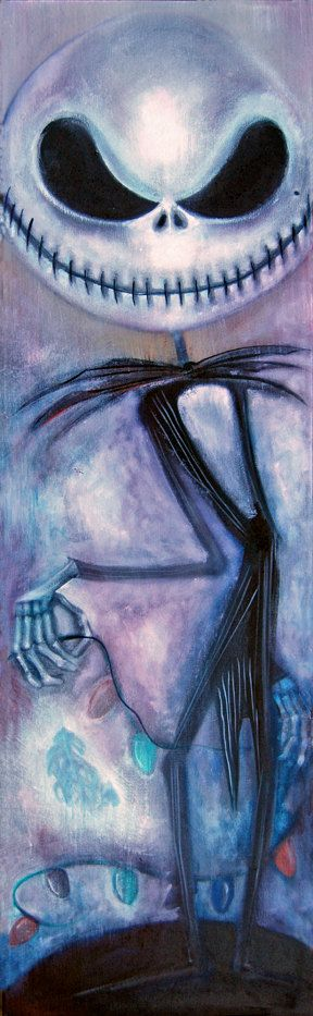 jack skellington a nightmare before christmas giclee by Triciajoy, $20.00