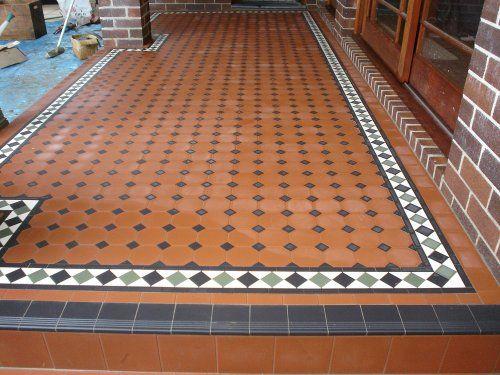 Edwardian tiles 100x100 octagon verandah with norwood for 100x100 floor tiles