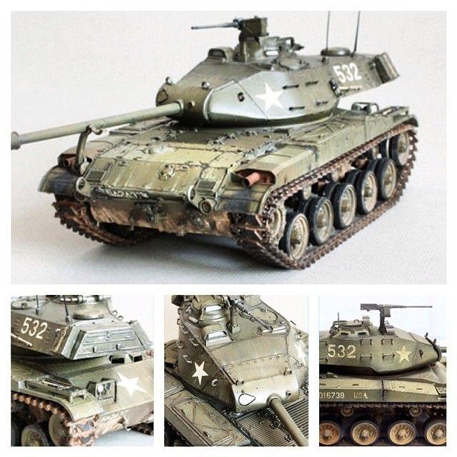 Продолжаем знакомиться с ассортиментом моделей от Tamiya. M41 Walker Bulldog. Лёгкий танк армии США, спроектированный в 1946—1949 годах для замены M24 «Чаффи». Масштаб модели: 1/35. Длина в собранном виде: 180 мм. Особенности модели: одна фигурка командира экипажа и две фигурки солдат; выбор деколей Американской или Японской армий. Модель не сложная в сборке, отличная стыкуемость деталей. Рекомендуем дополнительно к модели купить наборные траки. Модель на фото собрана (с) MojoJojo.