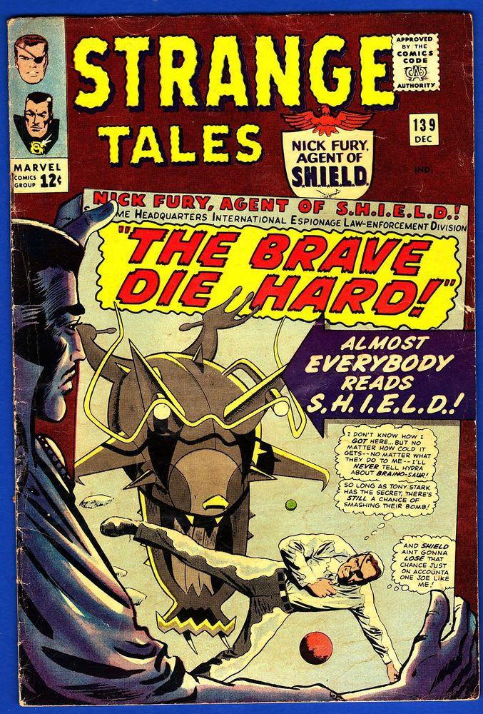 STRANGE TALES #139 * Nick Fury * Tony Stark * HYDRA * Dr. Strange * Baron Mordo