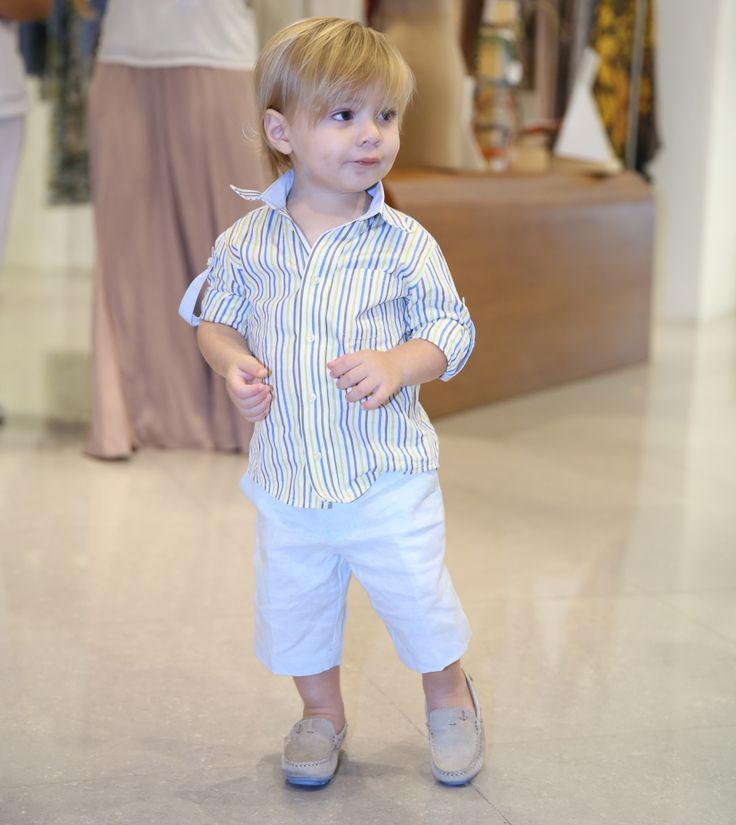 For babies #LinenPants #ItalianCottonShirt #FrancescaMiranda  #BabyTrunkShow