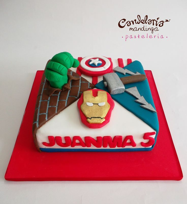 simple avengers cake - Google Search