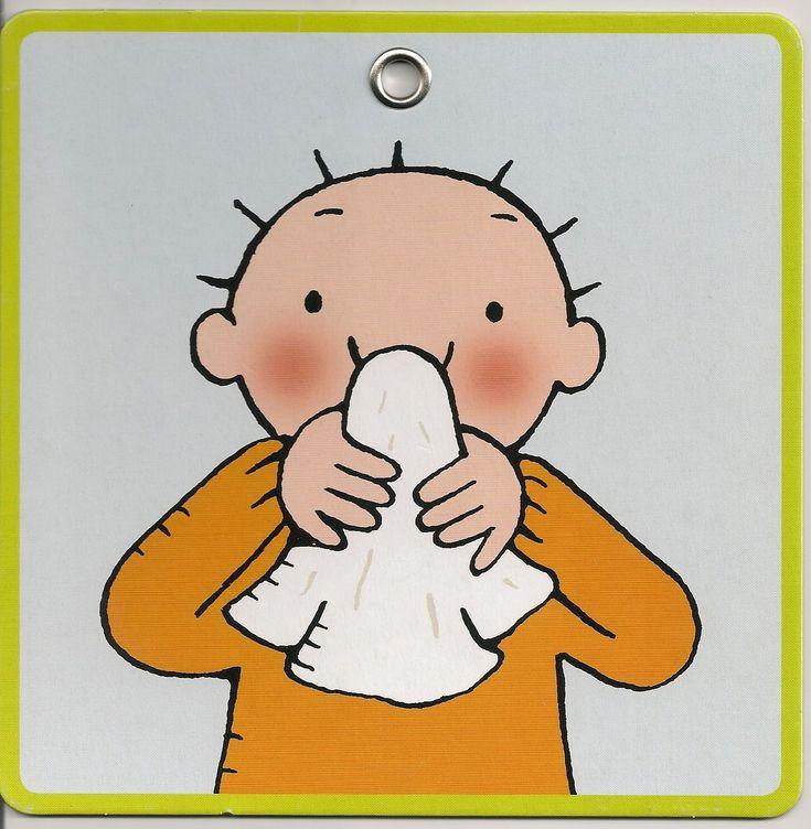 stappenplan neus snuiten: stap 2: houdt je zakdoek tegen je neus