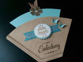 **Originelle Einladung zum Kaffee aus einer Filtertüten, hochwertigem Karten- u… – Maren