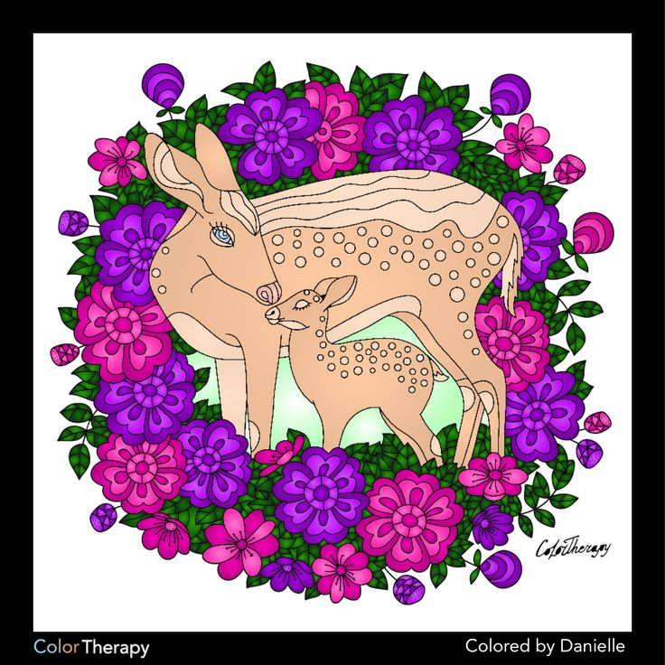 I colored this myself using Color Therapy App. It was so fun and relaxing! And it's Free!