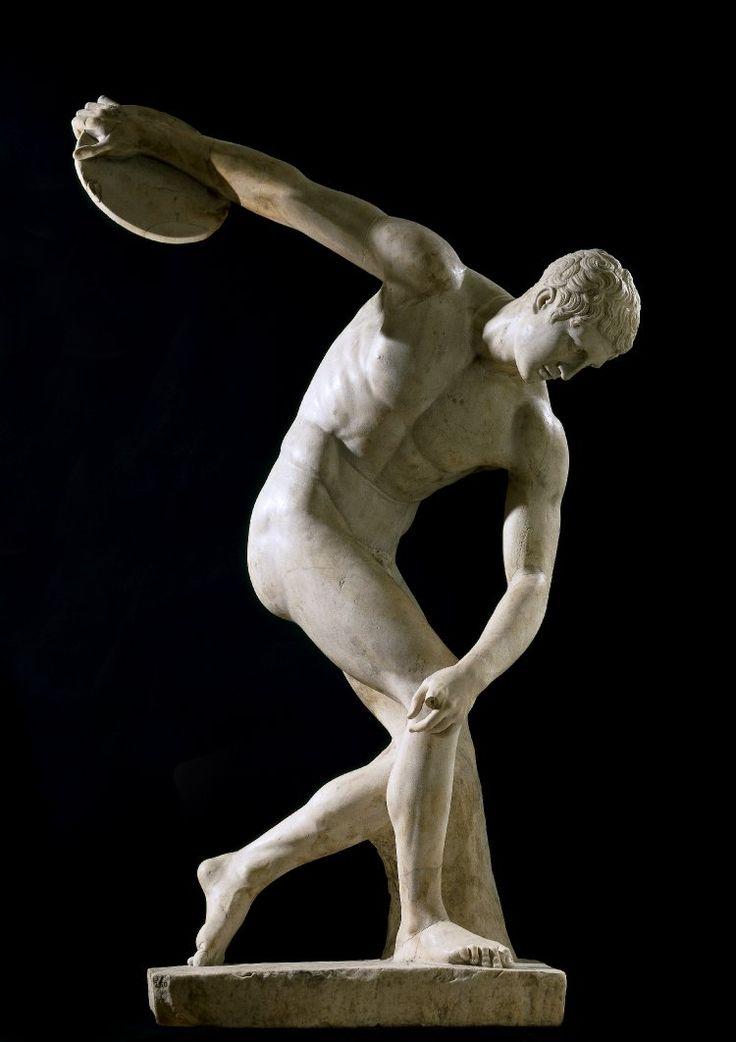 Ancient Roman Discus-thrower (discobolus)From Hadrian's Villa in Tivoli, Lazio, Italy