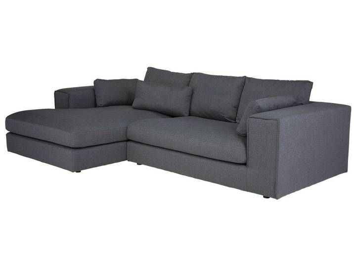 Massivum Sofa Aus Flachgewebe Brini Grau 284x84x176cm Stoff
