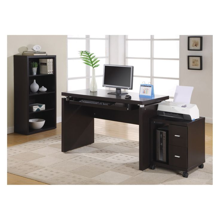 Techni Mobili Classy Computer Desk With Privacy Panel Classic Computer Desk Classy Desk Computer Desk With Shelves