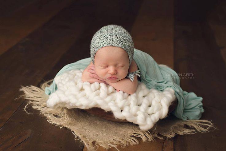 Knitting Pattern, Reversible, Knit PDF Pattern,  Newborn Hat Pattern, PHOTO shoot prop,  Knit, Tutorial, PDF, Newborn hat, Cole Bonnet by CreamoftheProp on Etsy