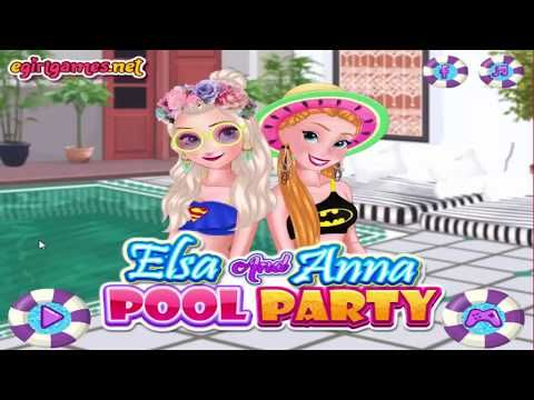 210717 Disney Frozen Games Elsa And Anna Pool Party