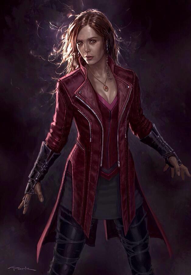 Concept art de Avengers: Age of Ultron / Vengadores: La Era de Ultrón (2015), Bruja Escarlata por Andy Park