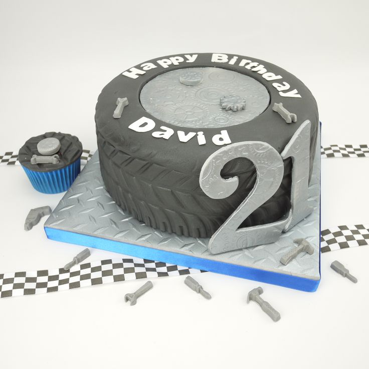 Tyre cake for a car or motor racing fan!