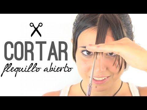 Cómo cortar el flequillo abierto. How to cut an open bangs.