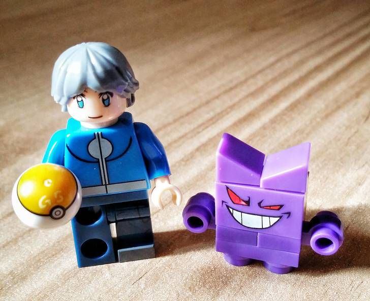 Just me and my Gengar buddy... Buying Lego online did not quite deliver