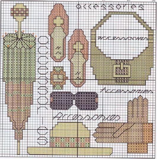 0 point de croix accessoires de femme - cross stitch lady's accessories