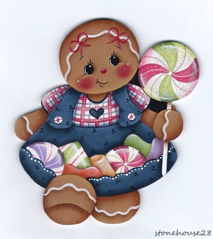 GINGERBREAD Girl with Candies