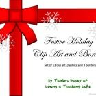 Happy Holidays from Living a Teaching Life!  This product contains a set of 13 holiday/winter/Christmas clip art and 9 borders.  Clip art can be us...