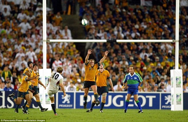 Jonny Wilkinson's drop kick in extra time clinches the 2003 Rugby Union World Cup for England against Australia in Sydney